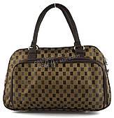 Стильная компактная дорожная сумка саквояж art. 8802 (101804) коричневый