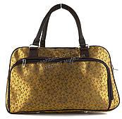 Стильная компактная дорожная сумка саквояж art. 8802 (101803) золотистый