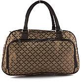 Стильная компактная дорожная сумка саквояж art. 8802 (101801) коричневый