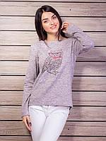 Кофта женская с вышивкой Сова p.42-48 VM2118-1