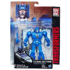 """Трансформер Фракас и Скурдж """"Возвращение Титанов"""" - Fracas & Scourge, Deluxe, Hasbro, 14 см"""