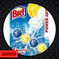 Гигиенический блок для унитаза Bref Power-Aktiv Лимонная свежесть 51 г (50719088)