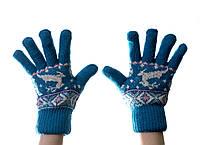 Рукавички женские теплые blue
