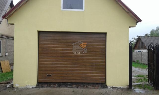 гаражные ворота с дверью цена