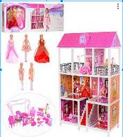 Кукольный домик 66885, мебель, 5 кукол.