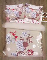 Комплект постельного белья САТИН  SPRING BROWNI  евро