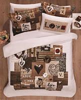 Комплект постельного белья САТИН  SPRING LOVE  евро