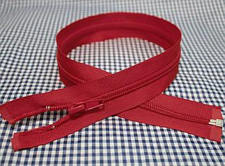 Молния (змейка) красная разъемная (спиральная, тип-5, 50см)