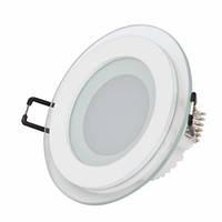 LED панель Lemanso 6W 400LM 4500K круг / LM431 + стекло