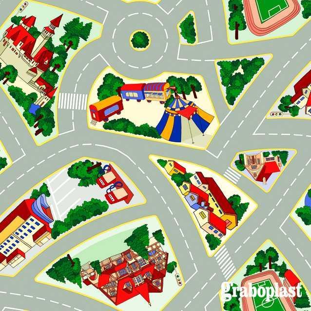 Детский линолеум Graboplast Terrana 01 / ECO  Kids 4171-254