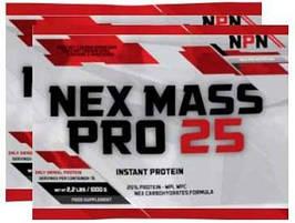 Гейнера NPN Nex Mass Pro 25 Пробники 60 г (8 шт)