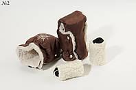 Муфта-рукавички на коляску и санки