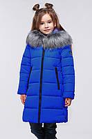 Пальто зимнее детское  для девочки с чернобуркой. Пуховик.