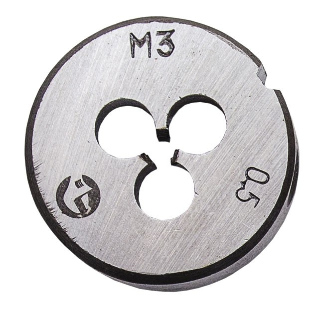 Плашка M 3x0,5 мм INTERTOOL SD-8206