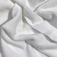 Махра велюровая премиум, белого цвета.