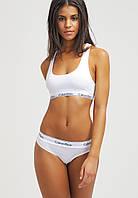 Набор женский Calvin Klein (топ+стринги), белый S (Люкс качество), фото 1