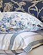Набор постельное белье с покрывалом Karaca Home Pureline синий евро размера, фото 2