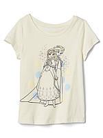 Детская летняя трикотажная футболка Gap для девочки