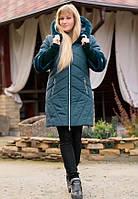 Зимнее женское пальто NEWAGE маренго ТМ Vicco 46-56 размеры