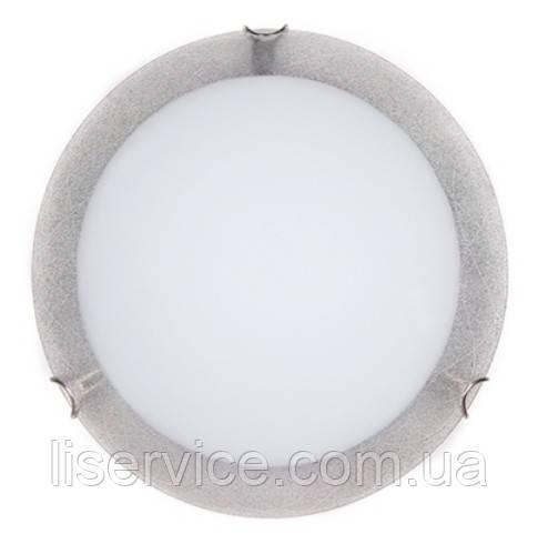 24140 Міраж НББ 2х60 Вт,Е27 d=300, сріб.