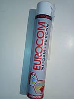 Пена монтажная EUROCOM 750 мл под пистолет - 50 литров выход