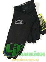 Подростковые  перчатки трикотажные зимние на флисе Nike сенсор Найк