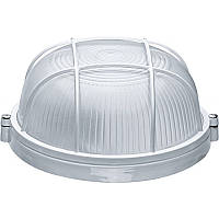 Світильник ІЕК НПП 1302 білий круглий з решіткою 60Вт ІР 54