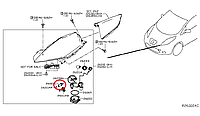 Nissan Leaf Патрон лампи головної фари