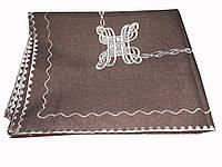 Перфорированная однотонная скатерть 150-300 см , фото 1