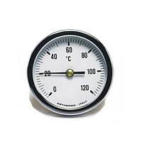 Термометр осевой Arthermo D=80мм, 0-120°С под гильзу 50 мм