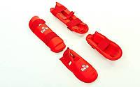 Защита голени с футами для единоборств DAEDO-5074 (красный)
