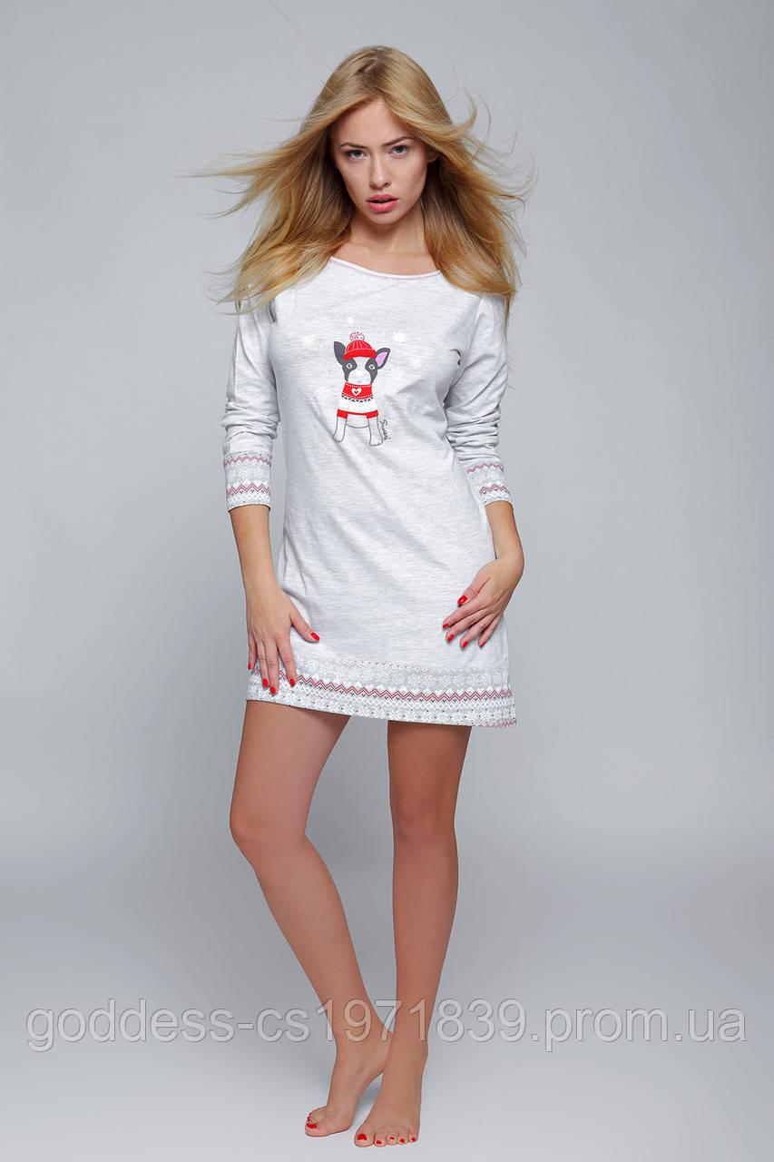 Молодежная сорочка из испанского текстиля Sensis Little Dog