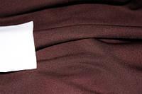 Ткань трикотаж креп дайвинг шоколад не плотный