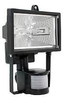 Прожектор галогенний ІЕК ИО 150 Д чорний IP 54 Rx7s з датчиком руху