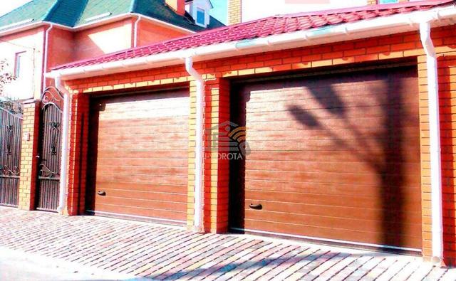 ворота гаражные подъемные секционные размеры