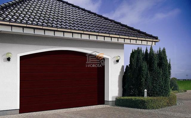 деревянные гаражные ворота фото