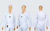 Защита корпуса (жилет) для каратэ детская WKF  (PU, р-р XXS-M, белый)
