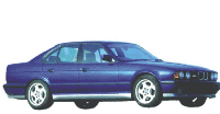 Накладки на пороги для BMW E34 (1988-1995)