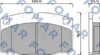 FO426981 FOMAR OPEL Колодки тормозные передние