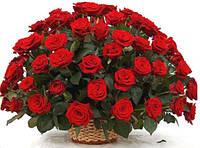 """Корзина красных роз """"Изольда"""""""