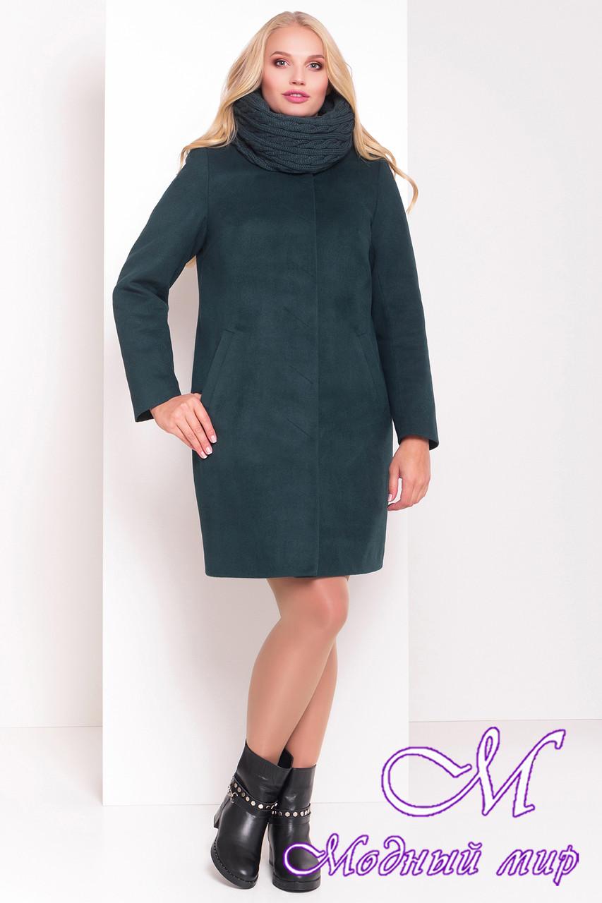 """Женское теплое кашемировое пальто большого размера (р. XL, XXL) арт. Фортуна донна """"3695"""" - 19229"""