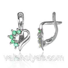 Серебряные серьги в форме сердец С2ФИ/014
