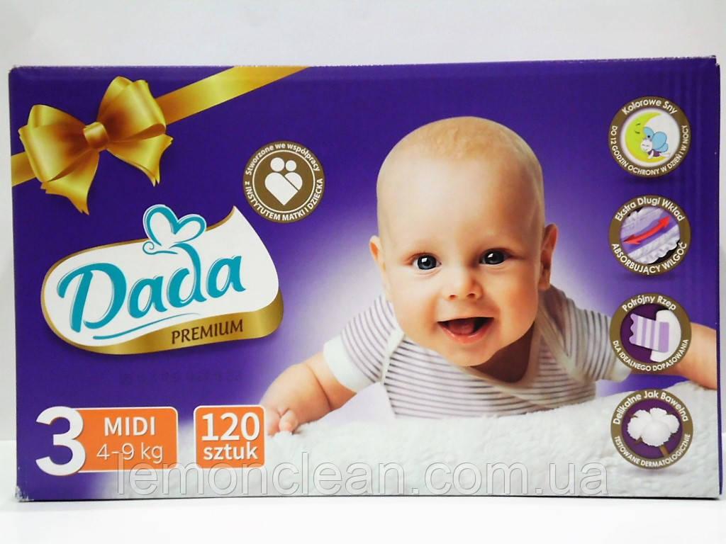 Подгузники Dada Premium 3 Midi 4-9кг 120шт