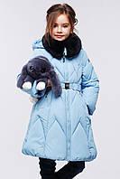 Зимнее полу пальто для девочки Мегги, рост 116, 122, 128, 134, 140,146, 152, 158, Nui very