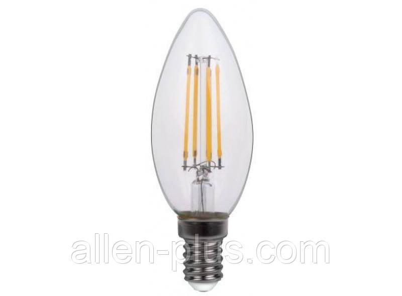 Филаментная светодиодная лампа Luxel 071-N C35(filament) 4W E14 4000K