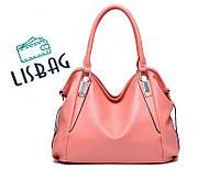 Большая, вместительная сумка розового цвета