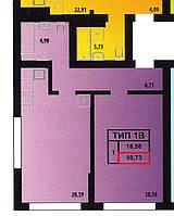 1 комнатная квартира 50,73 метра ЖК «Мальдивы», Одесса