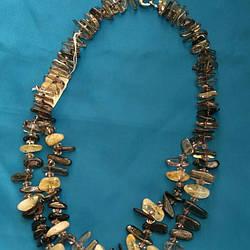 Ожерелье раухтопаз с цитрином