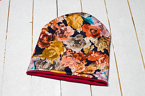 Трикотажная шапка «Октябрьские цветы»