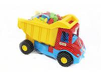 """Детская игрушка машинка с конструктором WADER """"Самосвал с конструктором"""""""
